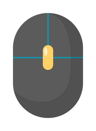 corded: Computer mouse icon vector illustration. Flat computer mouse flat design. Computer mouse business technology. Computer mouse symbol. Flat computer mouse infographic equipment. Illustration