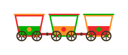 railroad transportation: Vector wagon train toy wagon and wagon train. Toy wagon train and wagon train transport railroad. Transportation railway toy part wagon train and vehicle wagon train.