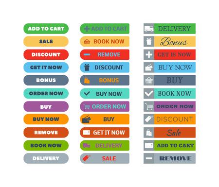 Web bouton élément de magasin isolé sur blanc. signe design acheter élément bouton boutique et étiquette panier boutique icône. shop affaires bouton symbole boutique graphique. Navigation UI bouton élément. Banque d'images - 58145966