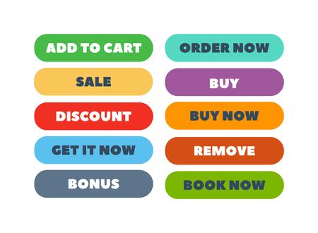 shop button: Web element shop button isolated on white. Design sign buy element shop button and label cart shop icon. Business shop symbol shop button graphic. Navigation UI element button.