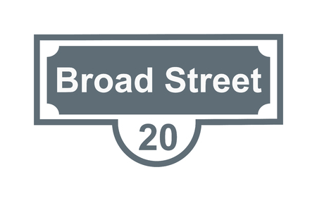 numeral: House number main street and vector street sign frame, house number plate design. Street sign wall frame and postel one urban house number. Street sign numeral architecture address symbol.
