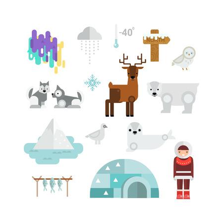 tessellation: Alaska state symbols map and alaska symbols flat style. Abstract tessellation alaska symbols, modern design alaska symbols background. Vector alaska symbols america travel animal national graphic.
