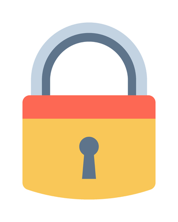 Lock icon and security padlock protection lock. Safety password sign lock privacy element and access shape lock. Private lock set safeguard equipment vector collection. Illustration