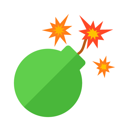 shrapnel: Explosive bomb military and army weapon. Soldier combat bomb gun. Grenade armed attack explode. Destruction steel bomb equipment. Grenade bomb explosion weapons vector. Illustration