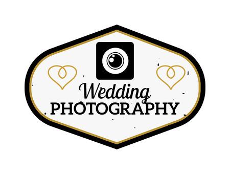 photo studio: Photography and photo studio   badge. Vector photographer   design element, business sign, identity, label badge. Photo studio branding objects business photographer  .
