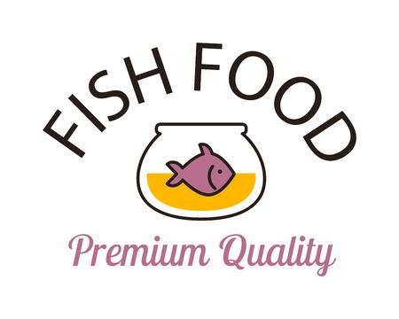 tank fish: Fish vector design logo template. Seafood restaurant idea fish tank logo. Water shape abstract fish logo ocean food element graphic icon. Seafood menu, nature river animal fresh food.