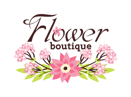 Wreath of floral boutique roses, peonies. Vector floral boutique hand drawn artwork. Love concept wedding invitations, cards, tickets, congratulations, branding floral boutique logo and fashion label.