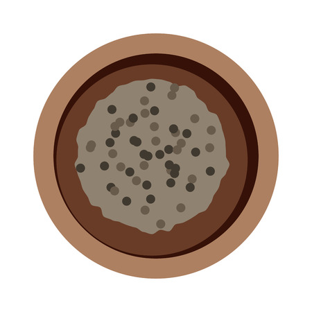 food plate: Buckwheat plate top view in bowl isolated on white background. Buckwheat plate top view brown healthy food and buckwheat plate dinner. Buckwheat plate vegetarian groats breakfast
