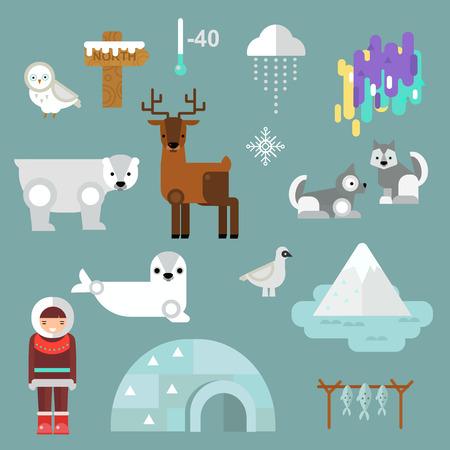 alaskan bear: Alaska state symbols map and alaska symbols flat style. Abstract tessellation alaska symbols, modern design alaska symbols background. Vector alaska symbols america travel animal national graphic.