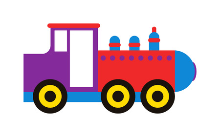 the locomotive isolated: Cartoon toy train with colorful blocks isolated over white and toy train vector set. Toy train color railroad and cartoon carriage game toy train fun leisure joy gift. Locomotive transportation.
