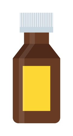 spilling: Pills tube spilling out pill bottle isolated. Pills tube isolated vector medical tablet and healthy vitamin antibiotic pills isolated. Pills isolated prescription pain care tablets Illustration