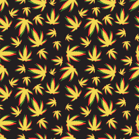 repeats: Green marijuana background vector illustration. White marijuana background leaf pattern repeat seamless repeats. Marijuana leaf background herb narcotic textile pattern. Different vector patterns.