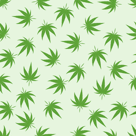 narcotic: Green marijuana background vector illustration. White marijuana background leaf pattern repeat seamless repeats. Marijuana leaf background herb narcotic textile pattern. Different vector patterns.