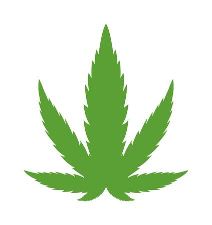 Cannabis marijuana hemp leaf flat icon vector green medicine weed vector herb. Addiction medical narcotic cannabis marijuana leaf. Nature symbol illegal hashish ganja cannabis marijuana leaf. Stock Vector - 60125400