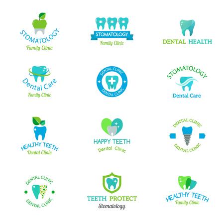 클린 치과 의사 밝은 의료 아이콘 의료 서비스를 설계합니다.