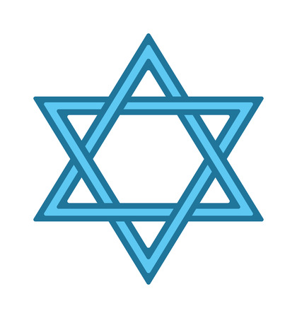 israel jerusalem: Shalom hebrew blue jew star of david card vector. Jew star symbol judaism religion israel. Religious icon jew star hanukkah spirituality blue traditional hexagram. Biblical jerusalem culture emblem.