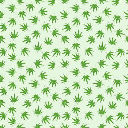 legalization: Green marijuana background vector illustration. White marijuana background leaf pattern repeat seamless repeats. Marijuana leaf background herb narcotic textile pattern. Different vector patterns.
