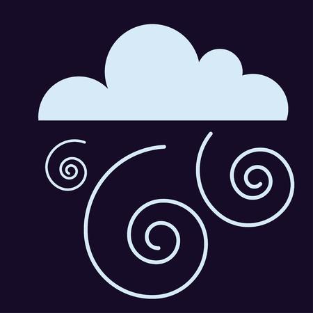 storm cloud: Lightning vector icon storm cloud. Storm cloud weather sky dark nature dramatic cloudscape. Danger stormy, thunderstorm symbol storm cloud natural scenic meteorology overcast scene. Illustration
