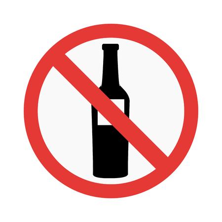prohibiting: Prohibition No alcohol sign vector illustration. Warning danger symbol prohibiting sign. Forbidden safety information prohibiting sign. Protection signs warning information sign. Illustration