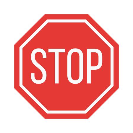 Prohibición de parada muestra de la ilustración del vector. Símbolo de advertencia de peligro prohibir la muestra. información de seguridad prohibido prohibir la muestra. señales de protección de advertencia signo de la información.