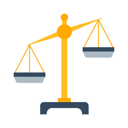 instrument of measurement: Web icon lawer scales, weigh measurement. Isollated scales weighing equilibrium weight balance. Freedom industry scales icons vector instrument. Scales for technology design