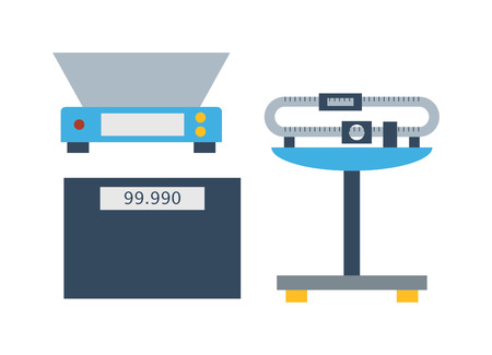 weighing scale: Web icon scale, weigh measurement. Isollated scales weighing equilibrium weight balance. Freedom industry scale tool vector instrument. Scale for technology design Illustration