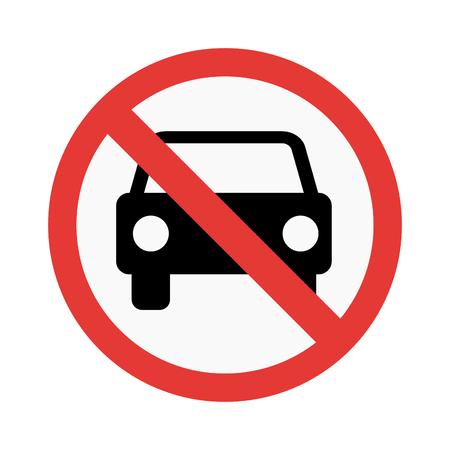 ない車の記号のベクトル イラスト