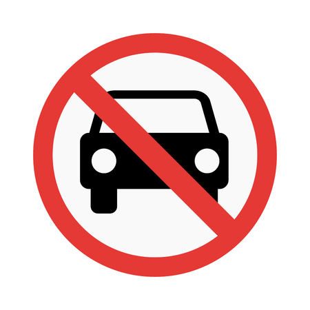 prohibiting: No car sign vector illustration