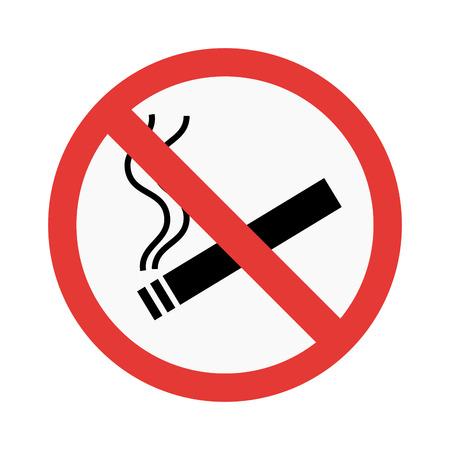 Geen rook teken vector illustratie Vector Illustratie