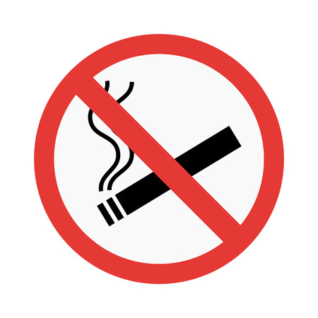 No smoke sign vector illustration