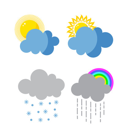 cold pack: Mega pack of weather icons snow climate, sun forecast, rainy storm. Snowflake set wind moon cloud weather icons. Weather icons cloudy design sky nature temperature sunny, cold thunderstorm season.