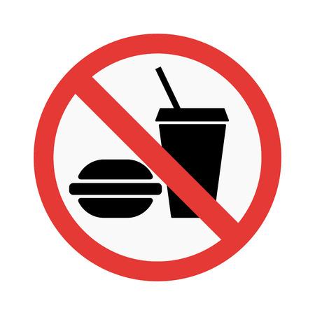 no food: Prohibition No food sign vector illustration. Warning danger symbol prohibiting sign. Forbidden safety information prohibiting sign. Protection signs warning information sign.