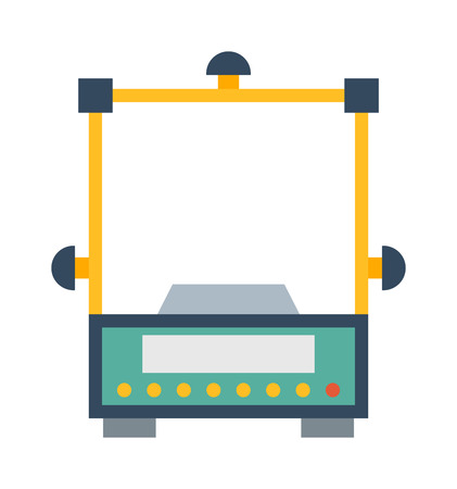 instrument of measurement: Web icon scale, weigh measurement. Isollated scales weighing equilibrium weight balance. Freedom industry scale tool vector instrument. Scale for technology design Illustration