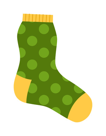 white socks: Flat design colorful socks icon vector illustration. Selection of various socks on white background. Textile warm clothes socks pair cute decoration wool winter clothing. Sport season collection.