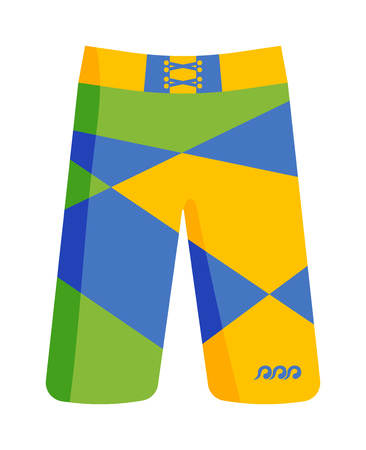 swimming shorts: Swimming pants shorts isolated on white background. Clothing sport swim shorts ang fitness fashion swimming shorts. Pants shorts swim, health summer sportswear.