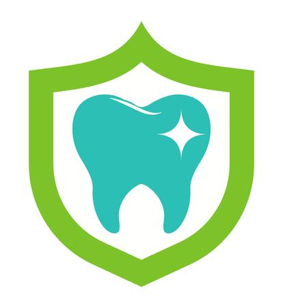 歯科医はインプラント ベクトル医療シンボル バッジです。明るいきれいな歯医者は、保健医療のアイコンを設計します。健康衛生歯科医、インプラ