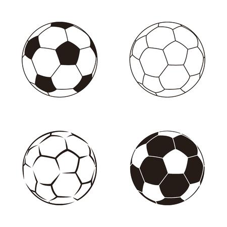 leather ball: Soccer ball isolated on white illustration. Soccer ball football sport equipment. Soccer leather ball. Football soccer ball isolated