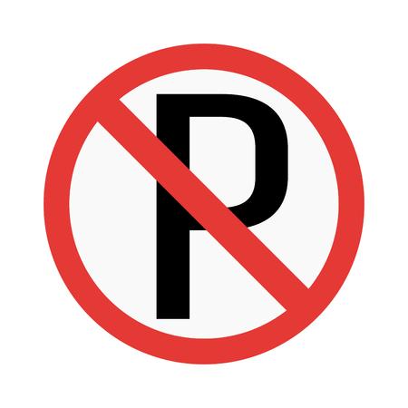 prohibiting: Prohibition P parking sign vector illustration. Warning danger symbol prohibiting sign. Forbidden safety information prohibiting sign. Protection signs warning information sign.