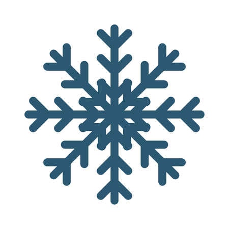 star ornament: Snowflake vector illustration and season nature winter snowflake symbol. Snowflake frozen ice xmas element and snowflake frost silhouette sign. Winter snow traditional beautiful star ornament. Illustration