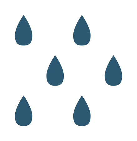 cold weather: Vector illustration of cool single weather rain drops icon. Rain raindrops in dark sky. Rain weather sky climate storm symbol cloud. Cold season water nature forecast element. Illustration