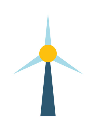 wind mill: Wind mill station power plant, flat vector drawing illustration. Power energy electricity wind mill station alternative generation technology. Renewable generator ecology wind mill station. Illustration