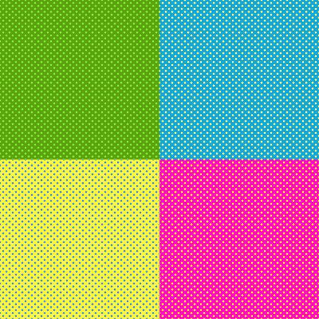 gradation art: Halftone color pop art background vector illustration. Pop art retro background background pattern. Retro pop art background design graphic pattern. Halftone color dot cartoon background.