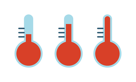 Cold thermometer temperature icon vector illustration and thermometer symbol. Cold indicator temperature thermometer and degree instrument scale cold temperature thermometer cold or hot weather