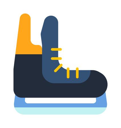 ice skates: Figure skates isolated on white. Sport shoe blade figure exercise ice skates. Activity recreation snow season, fun ice skates professional outdoor accessory. Winter lifestyle training skater hobby.