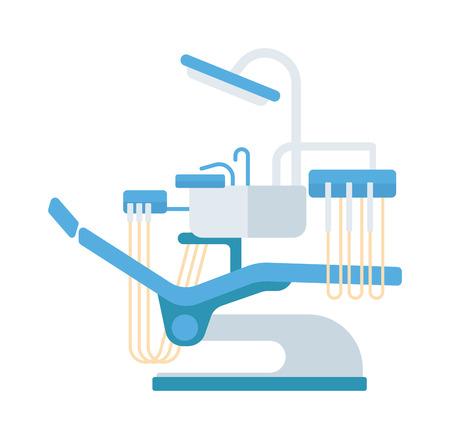 dental chair: Dental chair vector illustration. Vector illustration dental chair template design. Dental chair in clinic vector. Dental chair illustration isolated