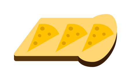 Slices of breakfast white bread for toasting on white background nutrition diet sandwich vector. Toast slice sandwich and white bread. Delicious lunch dinner toast slice. Grilled bread crispy. Illustration