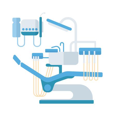 Dental Stuhl Vektor-Illustration. Vektor-Illustration Zahnarztstuhl Template-Design. Dental Stuhl in Klinik Vektor. Dental Stuhl Illustration isoliert