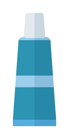 a solution tube: Some tube flat vector illustration. Product tube of glue, gel, toothpaste.