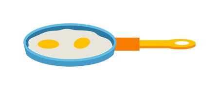 cooked: Scrambled eggs lunch on white background appetizing morning cooked ingredient vector. Fresh scrambled eggs and delicious cuisine dish. Scrambled eggs appetizing ingredient. Illustration