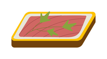 deli meat: Ham vegetable sandwich vector illustration. Breakfast fresh sandwich delicious vegetable, bacon slice. Delicious baguette big sandwich breakfast fresh, cheese, meal healthy fast food.